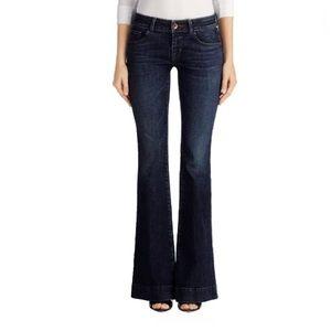 J Brand Love Story Flare Jeans Dark Wash Sz 25